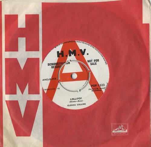 "Glenda Collins Lollipop 7"" vinyl single (7 inch record) UK 6GC07LO471560"