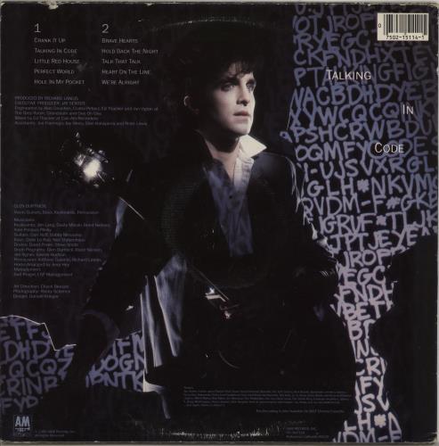 Glen Burtnick Talking In Code vinyl LP album (LP record) US GTNLPTA756362