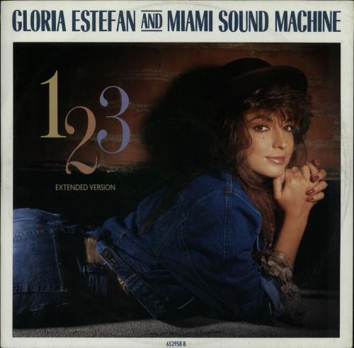 "Gloria Estefan 1-2-3 (Extended Version) 12"" vinyl single (12 inch record / Maxi-single) UK EST12EX132871"