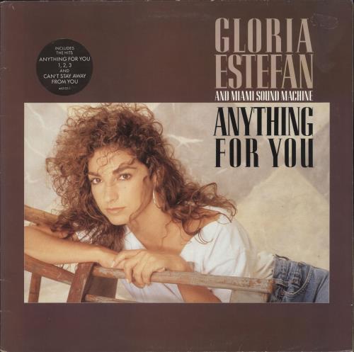 Gloria Estefan Anything For You - Circular Hype Sticker vinyl LP album (LP record) UK ESTLPAN743241
