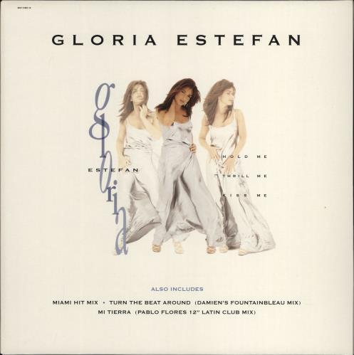 "Gloria Estefan Hold Me Thrill Me Kiss Me 12"" vinyl single (12 inch record / Maxi-single) UK EST12HO769725"