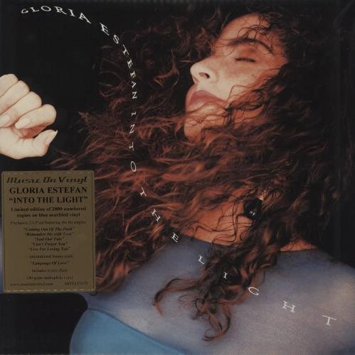 Gloria Estefan Into The Light - Blue Marbled Vinyl 2-LP vinyl record set (Double Album) UK EST2LIN752733