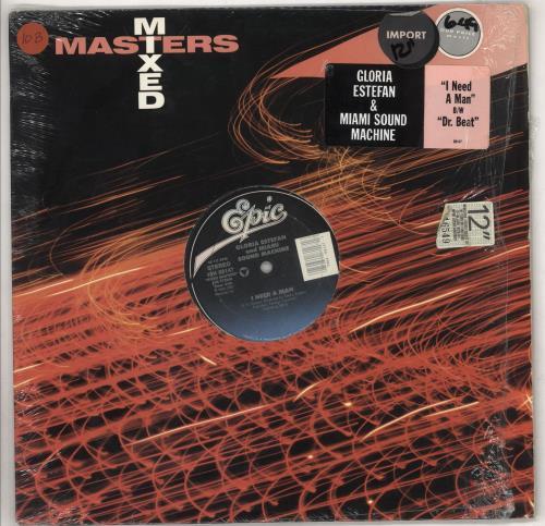 "Gloria Estefan Need A Man 12"" vinyl single (12 inch record / Maxi-single) US EST12NE738343"