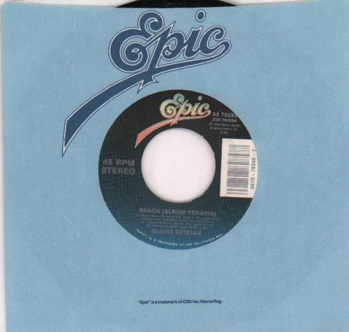 "Gloria Estefan Reach 7"" vinyl single (7 inch record) US EST07RE67709"