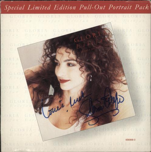 """Gloria Estefan Remember Me With Love - Autographed 7"""" vinyl single (7 inch record) UK EST07RE737385"""