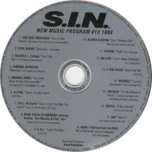 Gloria Estefan S.I.N. New Music Program #13 1998 CD album (CDLP) US ESTCDSI276599