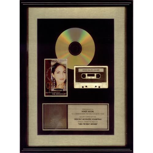 Gloria Estefan Turn The Beat Around award disc US ESTAWTU453976
