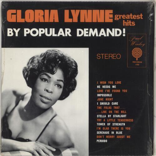 Gloria Lynne Greatest Hits - By Popular Demand vinyl LP album (LP record) US G-LLPGR712115