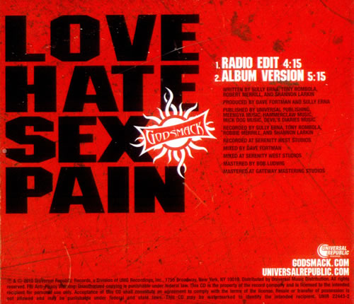 Love hate sex and pain