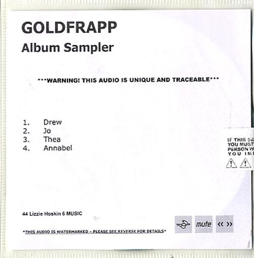 Goldfrapp Tales Of Us Album Sampler CD-R acetate UK FPPCRTA630757