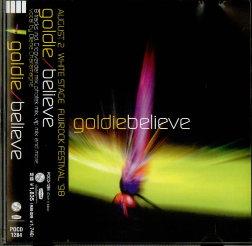 "Goldie (90s) Believe CD single (CD5 / 5"") Japanese GODC5BE535808"