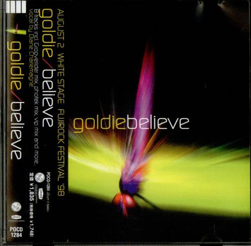 "Goldie (90s) Believe CD single (CD5 / 5"") Japanese GODC5BE535808"