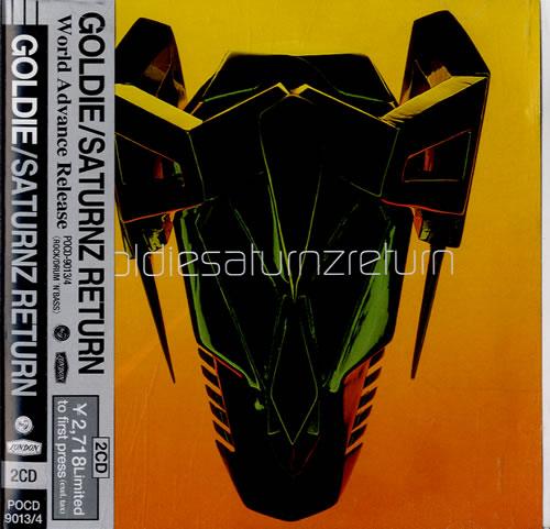 Goldie (90s) Saturnz Return 2 CD album set (Double CD) Japanese GOD2CSA554970