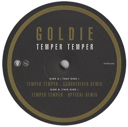 "Goldie (90s) Temper Temper 12"" vinyl single (12 inch record / Maxi-single) UK GOD12TE434975"