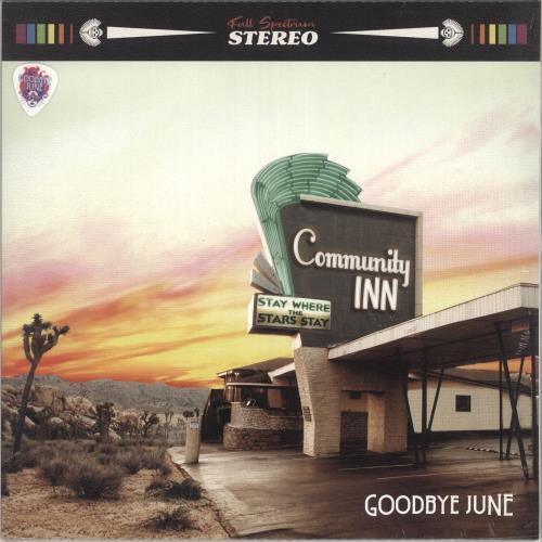 Goodbye June Community Inn - Orange Vinyl + Plectrum - Sealed vinyl LP album (LP record) UK 0P6LPCO732528