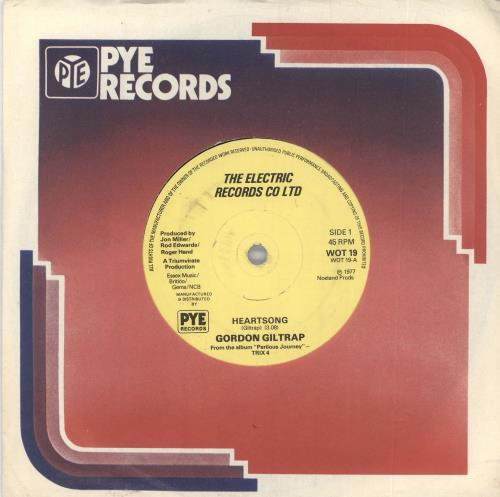 "Gordon Giltrap Heartsong - Yellow labels 7"" vinyl single (7 inch record) UK G-G07HE717945"