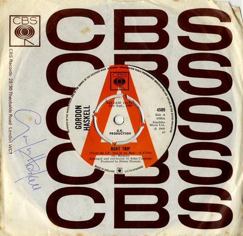"Gordon Haskell Boat Trip 7"" vinyl single (7 inch record) UK GHK07BO574312"