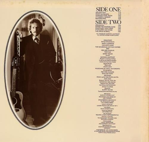 Gordon Lightfoot Endless Wire vinyl LP album (LP record) Japanese GDNLPEN162703
