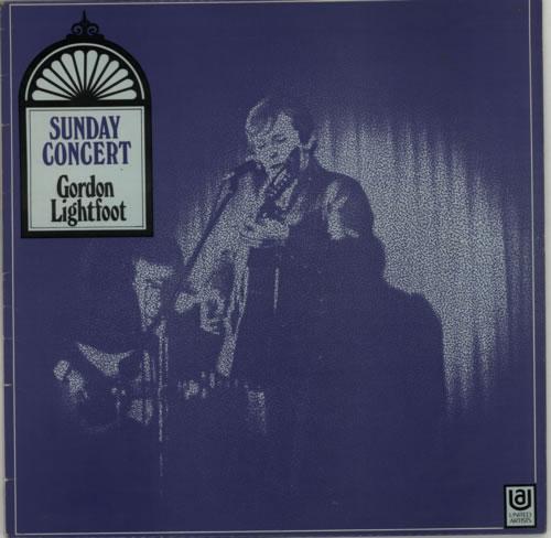 Gordon Lightfoot Sunday Concert - F/L vinyl LP album (LP record) UK GDNLPSU615040