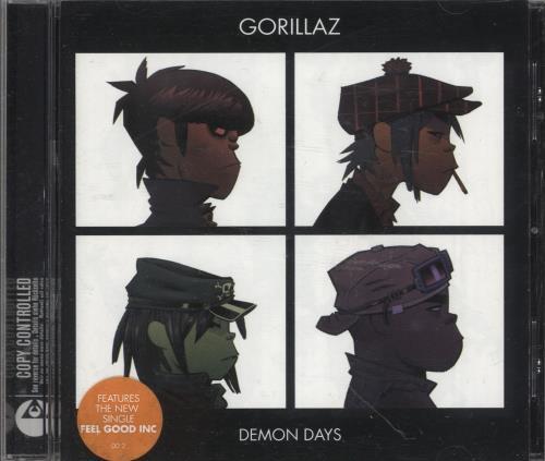 Gorillaz Demon Days CD album (CDLP) UK GLZCDDE324085