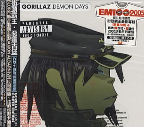 Gorillaz Demon Days Taiwanese 2 Disc Cddvd Set 326829