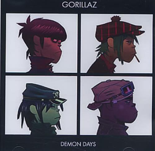 Gorillaz Demon Days CD-R acetate US GLZCRDE328882