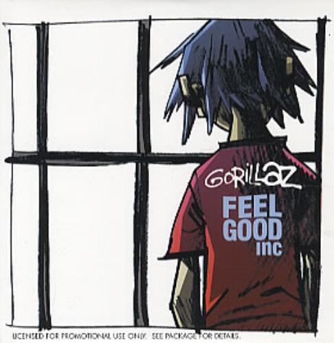 "Gorillaz Feel Good Inc CD single (CD5 / 5"") US GLZC5FE326465"