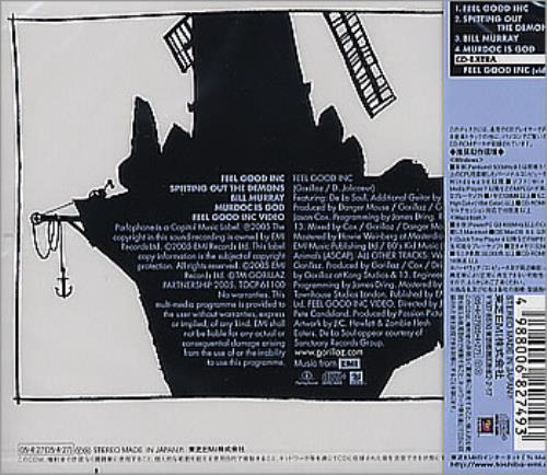 "Gorillaz Feel Good Inc. CD single (CD5 / 5"") Japanese GLZC5FE318319"