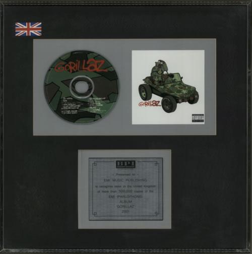 Gorillaz Gorillaz award disc UK GLZAWGO602171