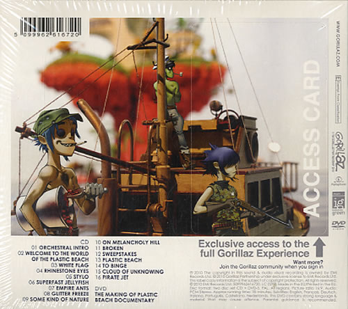 Gorillaz Plastic Beach 2-disc CD/DVD set UK GLZ2DPL497316