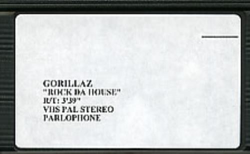 Gorillaz Rock Da House video (VHS or PAL or NTSC) UK GLZVIRO198900