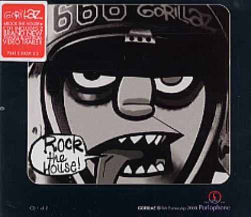 "Gorillaz Rock The House CD single (CD5 / 5"") UK GLZC5RO208427"