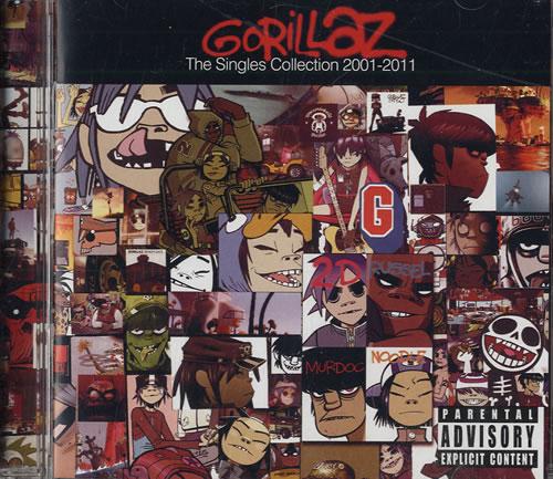 Gorillaz The Singles Collection 2001-2011 CD album (CDLP) US GLZCDTH552265