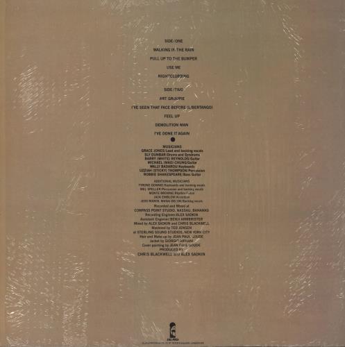 Grace Jones Nightclubbing + Shrink vinyl LP album (LP record) UK GJOLPNI693226