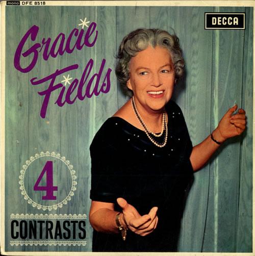 "Gracie Fields 4 Contrasts EP 7"" vinyl single (7 inch record) UK GFE07CO558813"