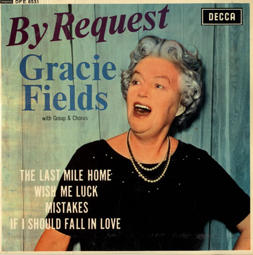 """Gracie Fields By Request EP 7"""" vinyl single (7 inch record) UK GFE07BY558814"""