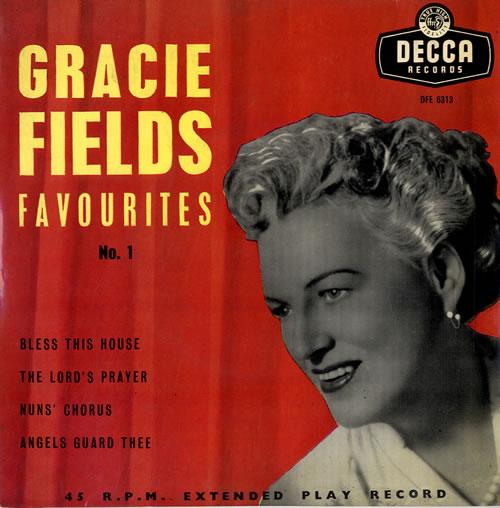 "Gracie Fields Gracie Fields Favourites No. 1 EP 7"" vinyl single (7 inch record) UK GFE07GR563084"