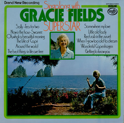 Gracie Fields Singalong With Gracie Fields Superstar vinyl LP album (LP record) UK GFELPSI457416