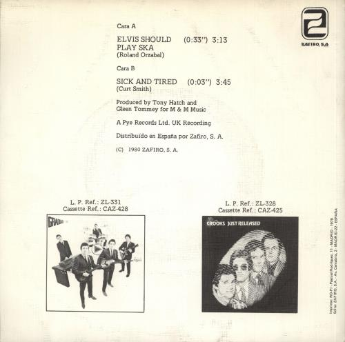 "Graduate Elvis Cantaria Ska 7"" vinyl single (7 inch record) Spanish GDT07EL188139"