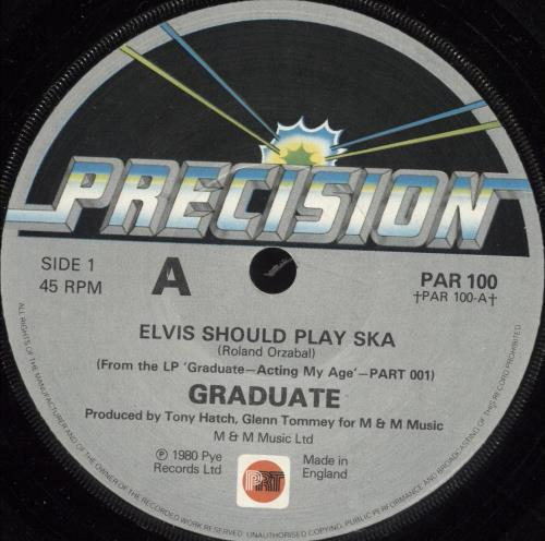 "Graduate Elvis Should Play Ska 7"" vinyl single (7 inch record) UK GDT07EL705693"