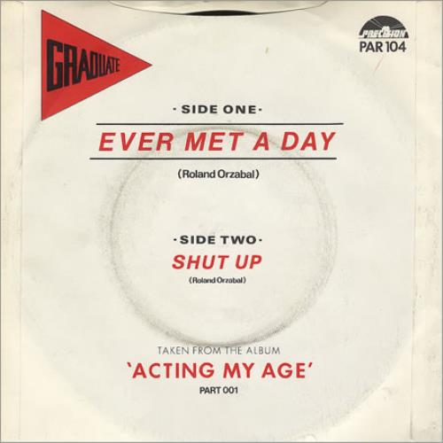 """Graduate Ever Met A Day - Picture sleeve 7"""" vinyl single (7 inch record) UK GDT07EV29562"""