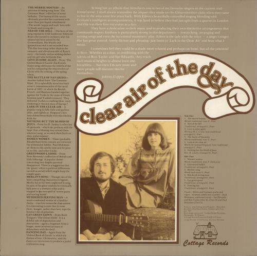 Graham & Eileen Pratt Clear Air Of The Day vinyl LP album (LP record) UK GZSLPCL716605