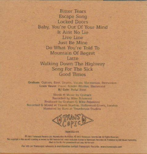 Graham Coxon The Kiss Of Morning CD album (CDLP) UK GCXCDTH225302