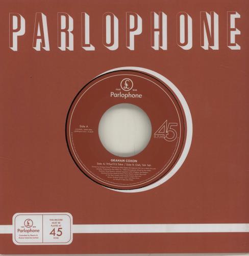 "Graham Coxon What'll It Take - RSD12 7"" vinyl single (7 inch record) UK GCX07WH680308"