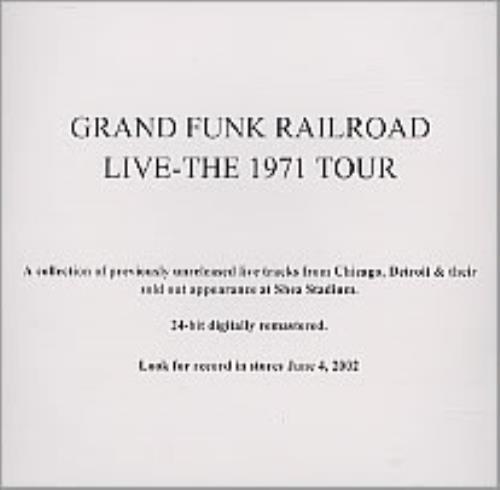 Grand Funk Railroad Live-The 1971 Tour CD-R acetate US GFRCRLI226500