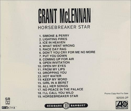 Grant McLennan Horsebreaker Star CD album (CDLP) US GMCCDHO480948