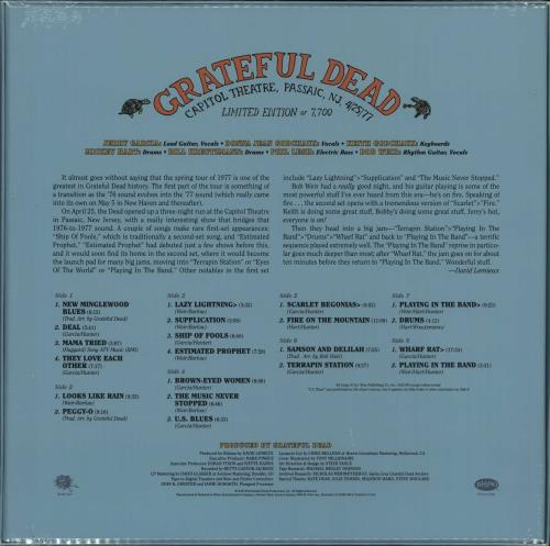 Grateful Dead Capitol Theatre, Passaic, NJ 4/25/77 - RSD 16 - Sealed Vinyl Box Set US GRDVXCA651033
