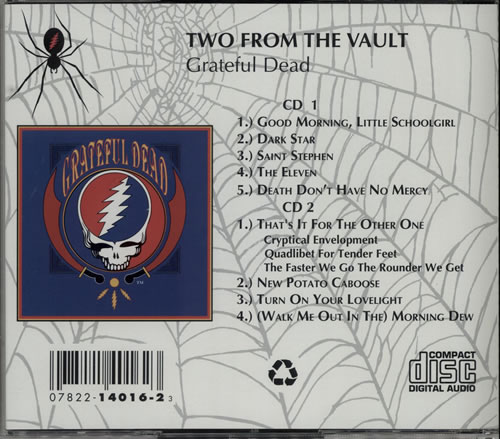 Grateful Dead Two From The Vault Us 2 Cd Album Set Double