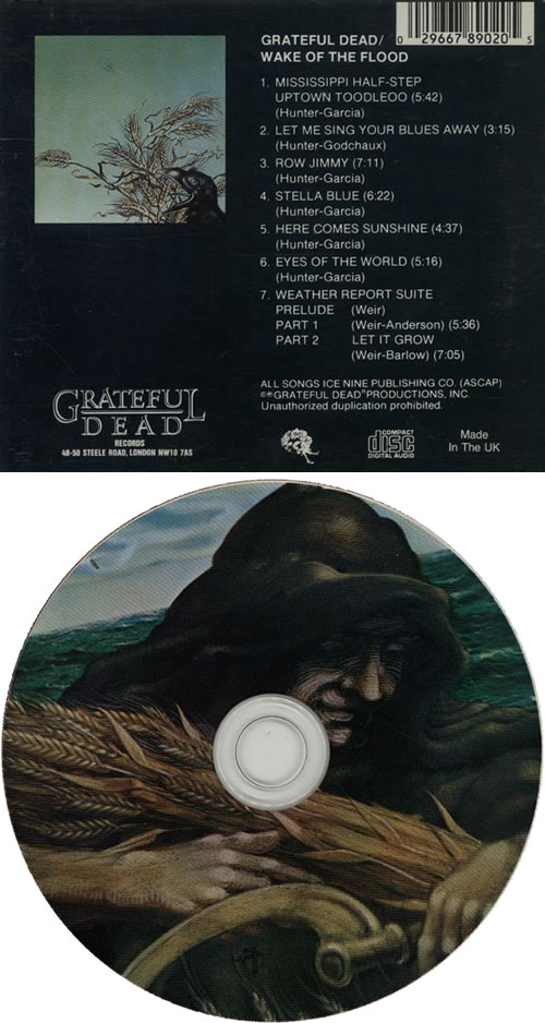 Grateful Dead Wake Of the Flood CD album (CDLP) UK GRDCDWA633167
