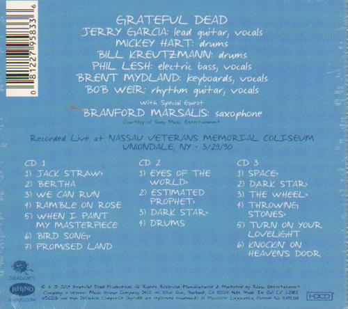 Grateful Dead Wake Up To Find Out: Nassau Coliseum, Uniondale, NY 29/3/90 3-CD album set (Triple CD) UK GRD3CWA648525
